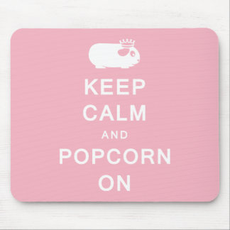 Keep Calm & Popcorn On Mousemat Mouse Pad