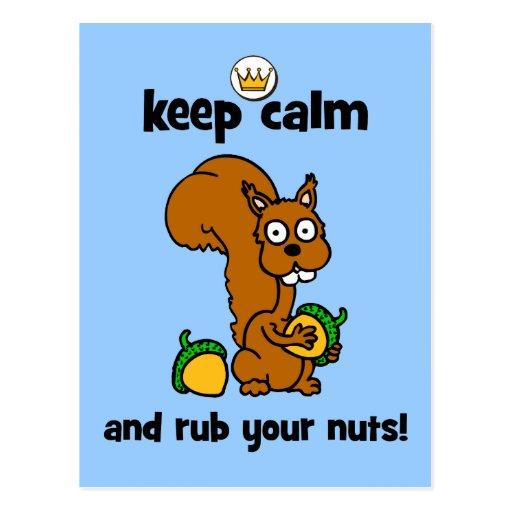 keep calm postcard