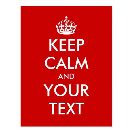 Keep calm postcard template | Customizable design