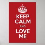 keep, calm, poster