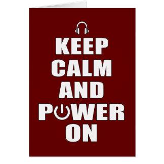 Keep Calm & Power On Card