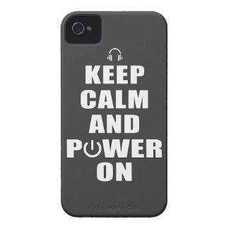 Keep Calm & Power On iPhone 4 Case