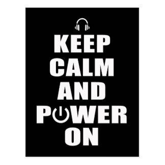 Keep Calm & Power On Postcard