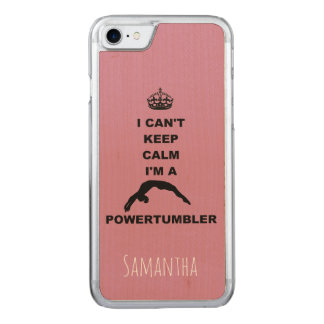 Keep Calm Powertumbler wood iphone6 Carved iPhone 8/7 Case