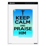 KEEP CALM PRAISE HIM iPad 3 DECALS