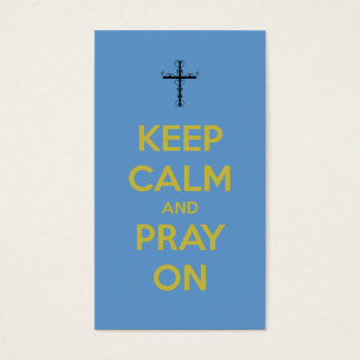 Keep Calm Pray On Mini Quote Bookmark Business Card