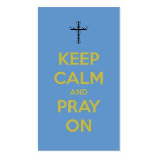 Keep Calm Pray On Mini Quote Bookmark Business Cards