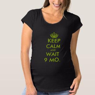 0bb6883e1d87b Keep calm pregnancy shirt   Apple green text