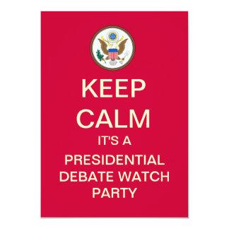 KEEP CALM Presidential Debate Watch Party Invite