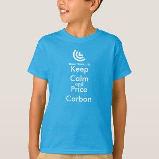 Keep Calm & Price Carbon Kids Tee Shirt (Blue)