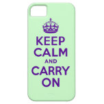 Keep Calm Purple and Mint Green iPhone 5 Cases
