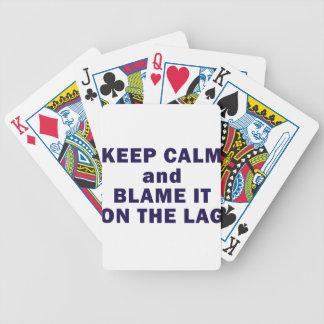 Keep Calm Purple Bicycle Playing Cards