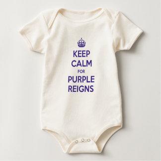KEEP CALM PURPLE REIGNS BABY BODYSUIT