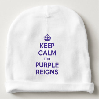 KEEP CALM PURPLE REIGNS on Infant Hats - Baby Beanie