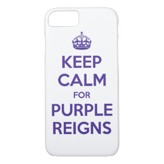 KEEP CALM PURPLE REIGNS on Mobile Device Covers -
