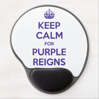 KEEP CALM PURPLE REIGNS on Mouse Mats - Gel Mouse Pad