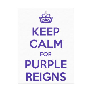 KEEP CALM PURPLE REIGNS Wall Art -