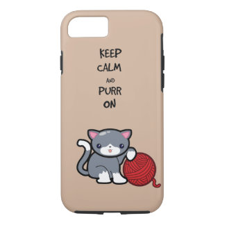 Keep calm, purr on iPhone 8/7 case