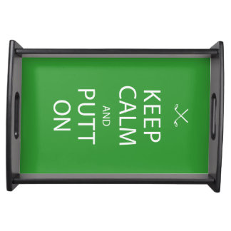 Keep Calm & Putt On - Golf Gift for the Bar Service Trays