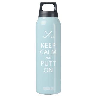 Keep Calm & Putt On Water Bottle! - Golf Insulated Water Bottle