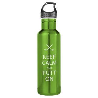 Keep Calm & Putt On Water Bottle! - Golf Water Bottle