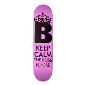 Keep Calm Queen B is Here Skateboard Deck