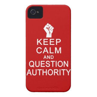 Keep Calm & Question Authority Blackberry Bold cas iPhone 4 Cover