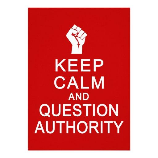 Keep Calm & Question Authority, customize 13 Cm X 18 Cm Invitation ...: www.zazzle.com/keep_calm_question_authority_customize_invitation...