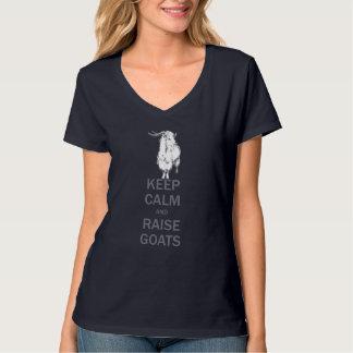 Keep Calm Raise Goats Angora Goat T-Shirt