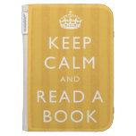 """Keep Calm & Read A Book"" Personalized Kindle Case"