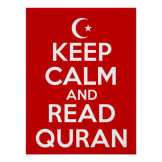 Keep Calm Read Quran Posters