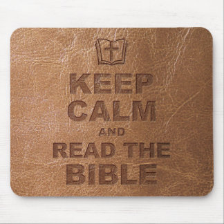 Keep Calm Read The Bible Mouse Pads