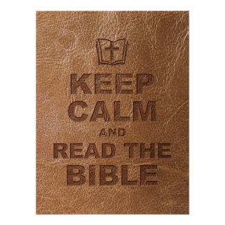 Keep Calm Read The Bible Posters