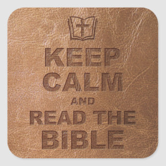 Keep Calm Read The Bible Square Sticker
