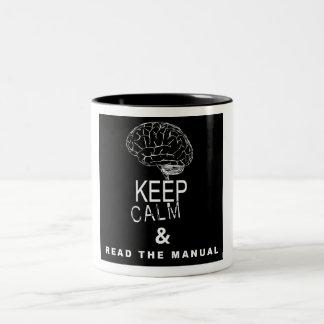 Keep Calm & Read The Manual Mugs