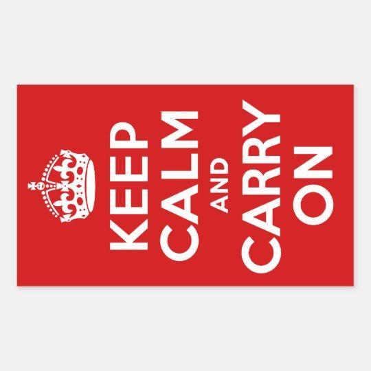 Keep Calm Rectangle Sticker
