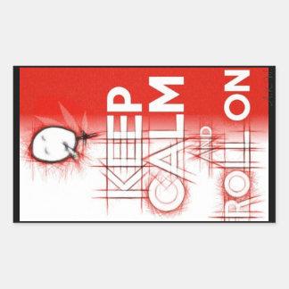 Keep Calm Rectangular Sticker