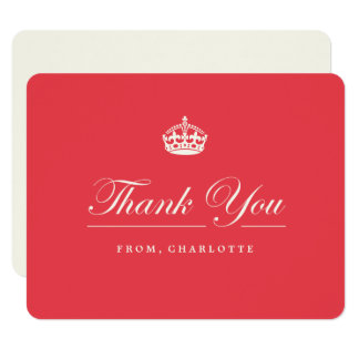 Keep Calm Red 21st Birthday Party Thank You Card