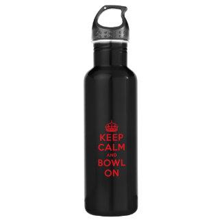 """Keep Calm"" (Red) Beverage Bottle 24oz Water Bottle"