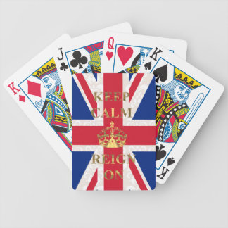 Keep calm & reign on deck of cards