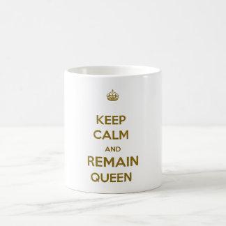 Keep Calm Remain Queen Style 1 Classic White Coffee Mug