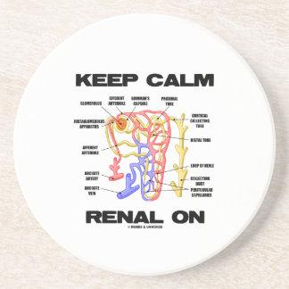 Keep Calm Renal On (Kidney Nephron) Coaster