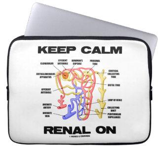 Keep Calm Renal On (Kidney Nephron) Computer Sleeve