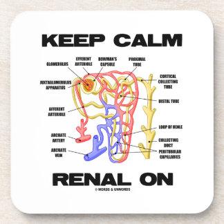 Keep Calm Renal On (Kidney Nephron) Beverage Coaster