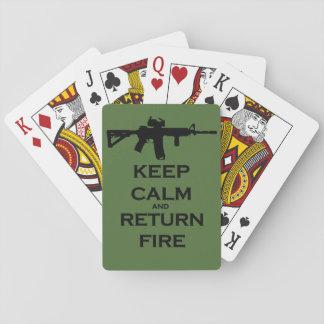 Keep Calm & Return Fire Deck of Cards