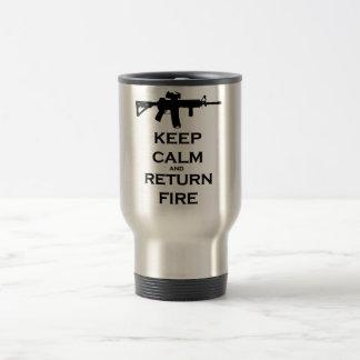 Keep Calm & Return Fire Travel Mug