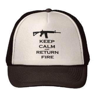 Keep Calm & Return Fire Trucker Style Hat