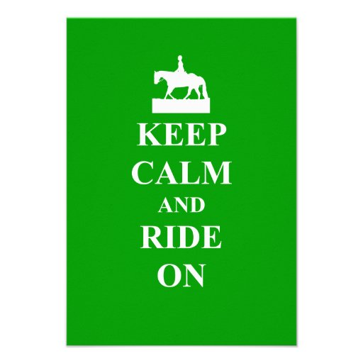 Keep calm & ride on announcements