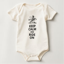 Keep Calm & Ride On Baby Bodysuit