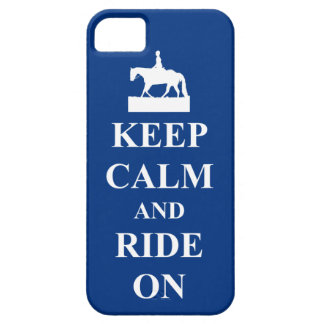 Keep calm ride on blue iPhone 5 covers
